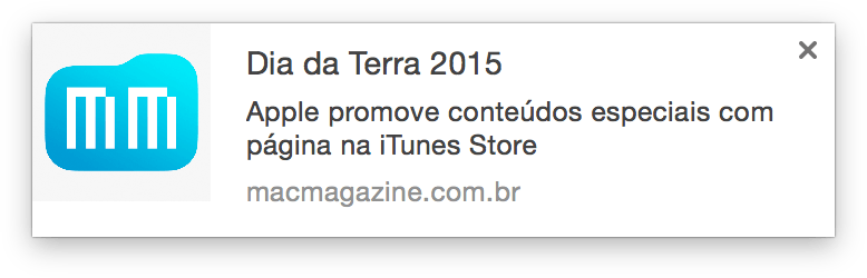 Notificações do MacMagazine para o Chrome