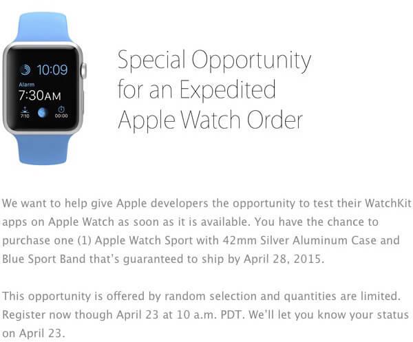 Apple Watch para desenvolvedores
