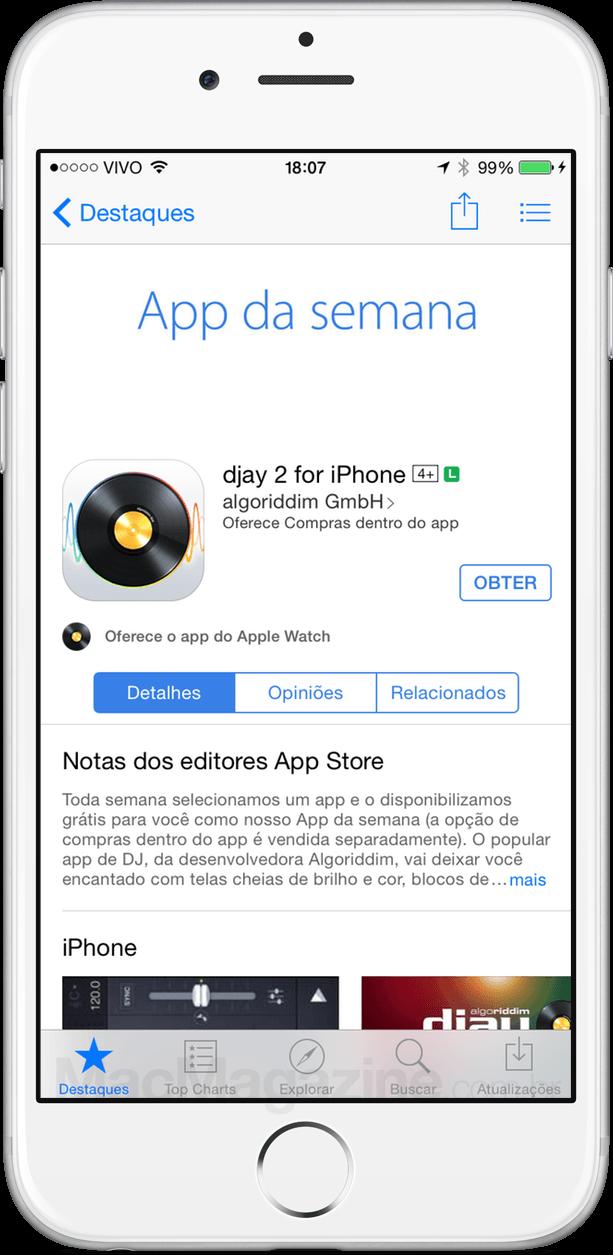 App Store do iPhone