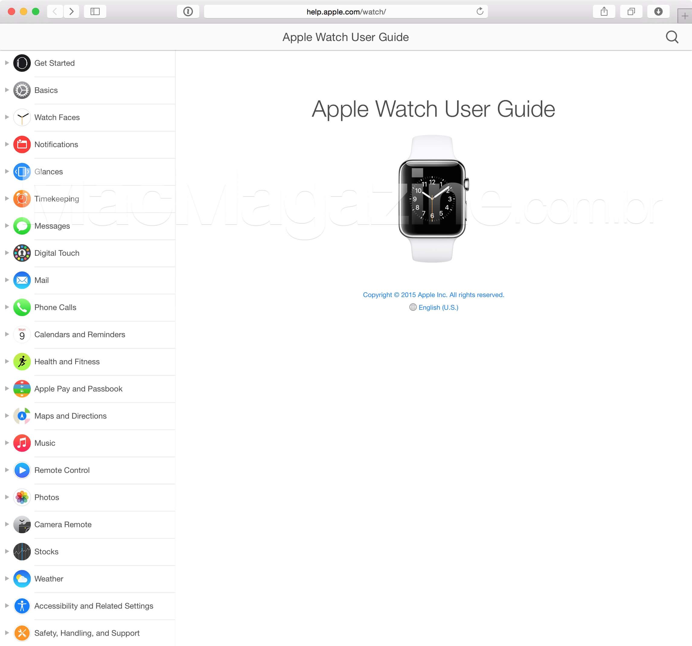 Guia do Usuário (Apple Watch)
