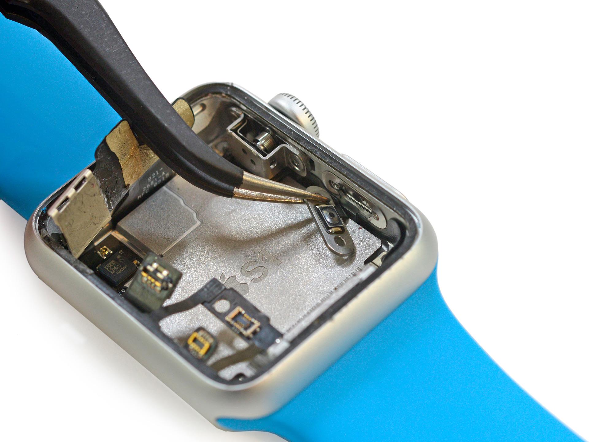 O botão que fica embaixo da Coroa Digital do Apple Watch