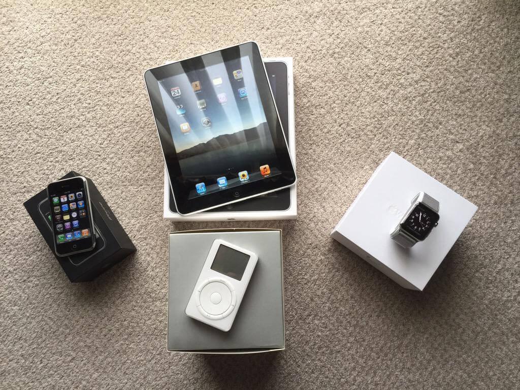 Foto do dia: iPod, iPhone, iPad e Apple Watch originais
