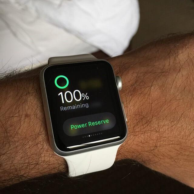 Bateria do Apple Watch em 100%