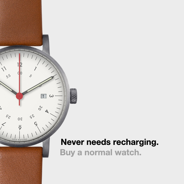 Campanha de relógio tradicional contra o Apple Watch