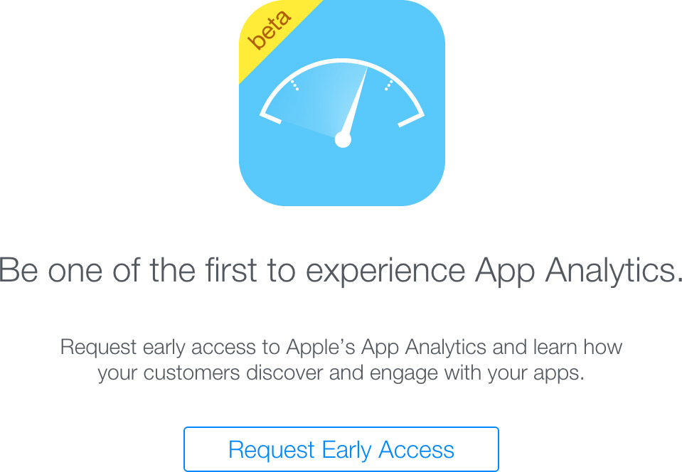 Apple testando App Analytics