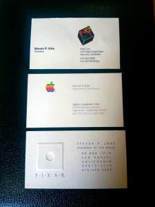 Cartões de visita de Steve Jobs