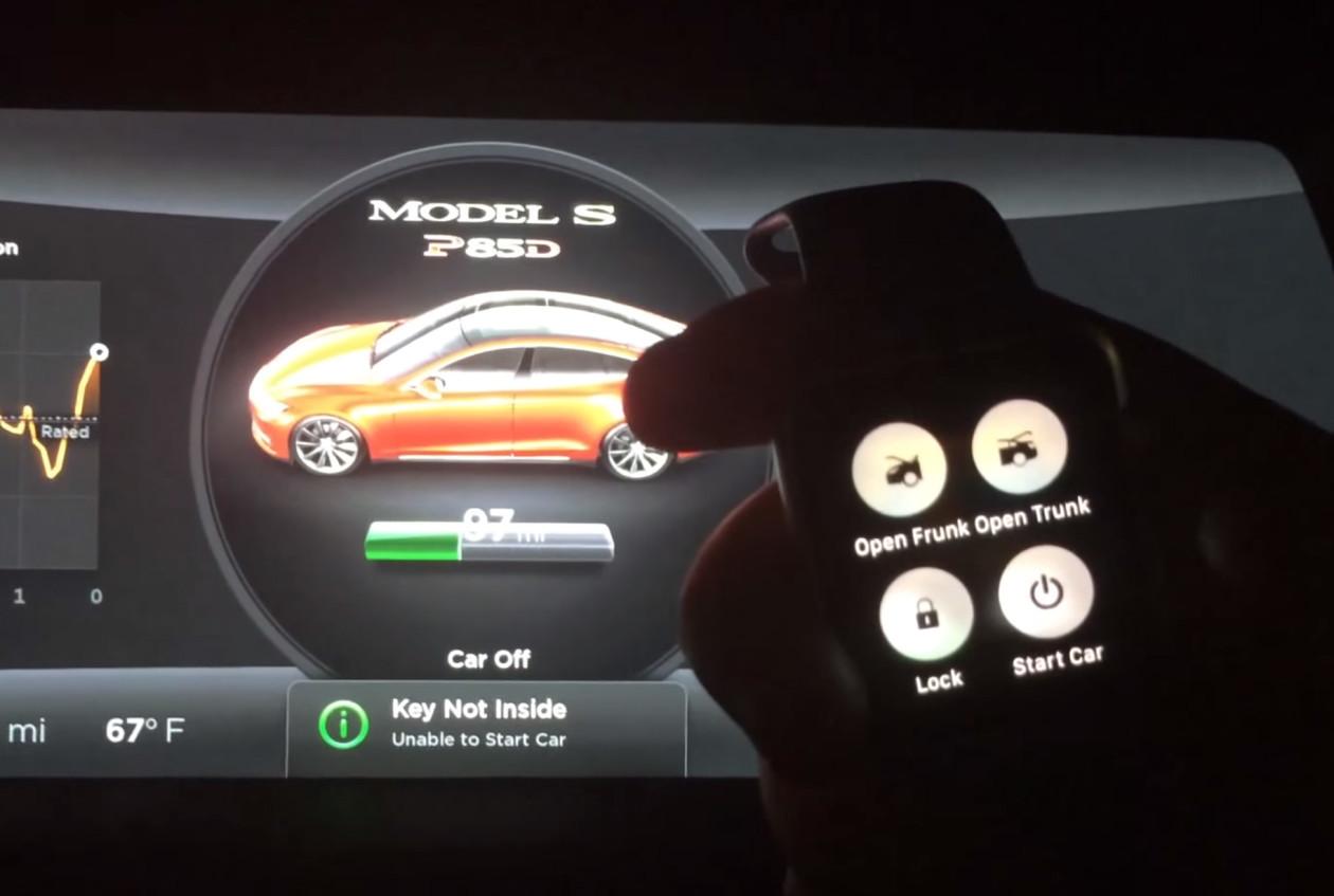 Aplicativo Remote S permitirá controle remoto total de Teslas pelo Apple Watch; confira demonstração
