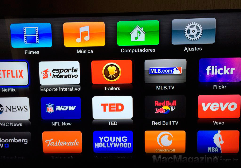 Apple TV de segunda geração sem YouTube