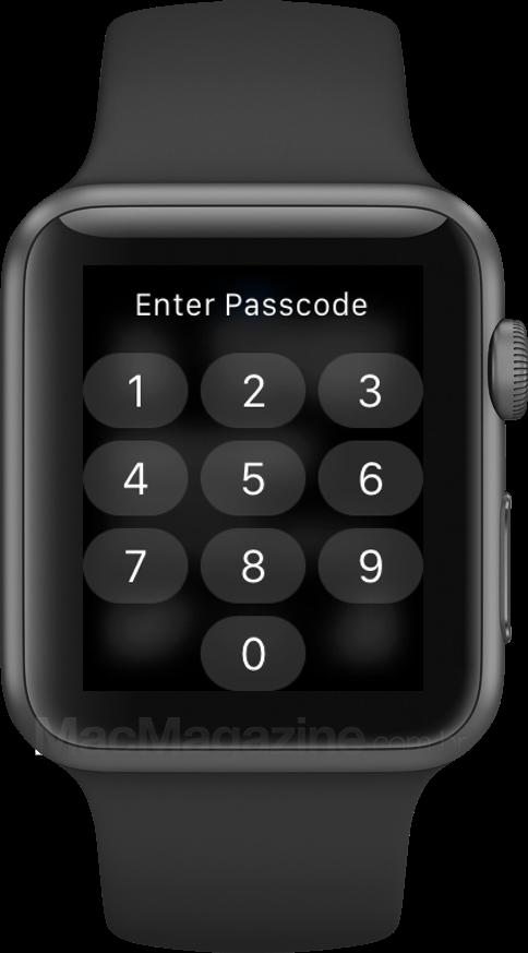 Apple Watch protegido por código