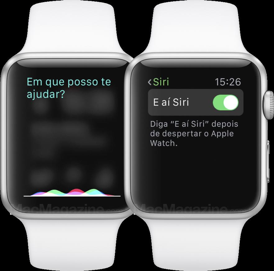 Siri em português no Apple Watch