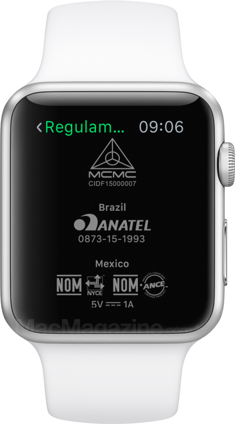 Homologação do Apple Watch no Watch OS