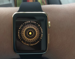 Caixa do Apple Watch Edition (ouro)