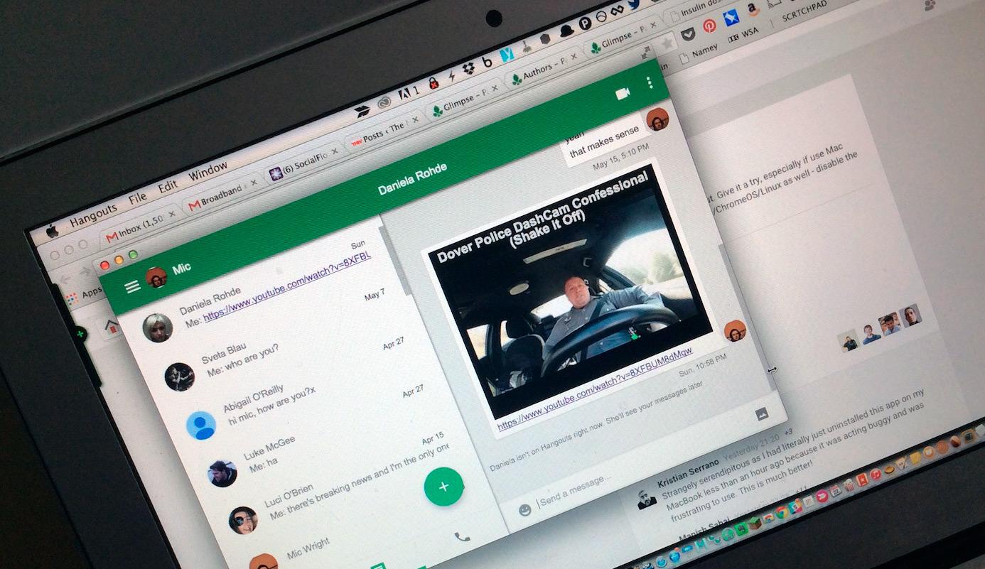 Google Hangouts no Mac
