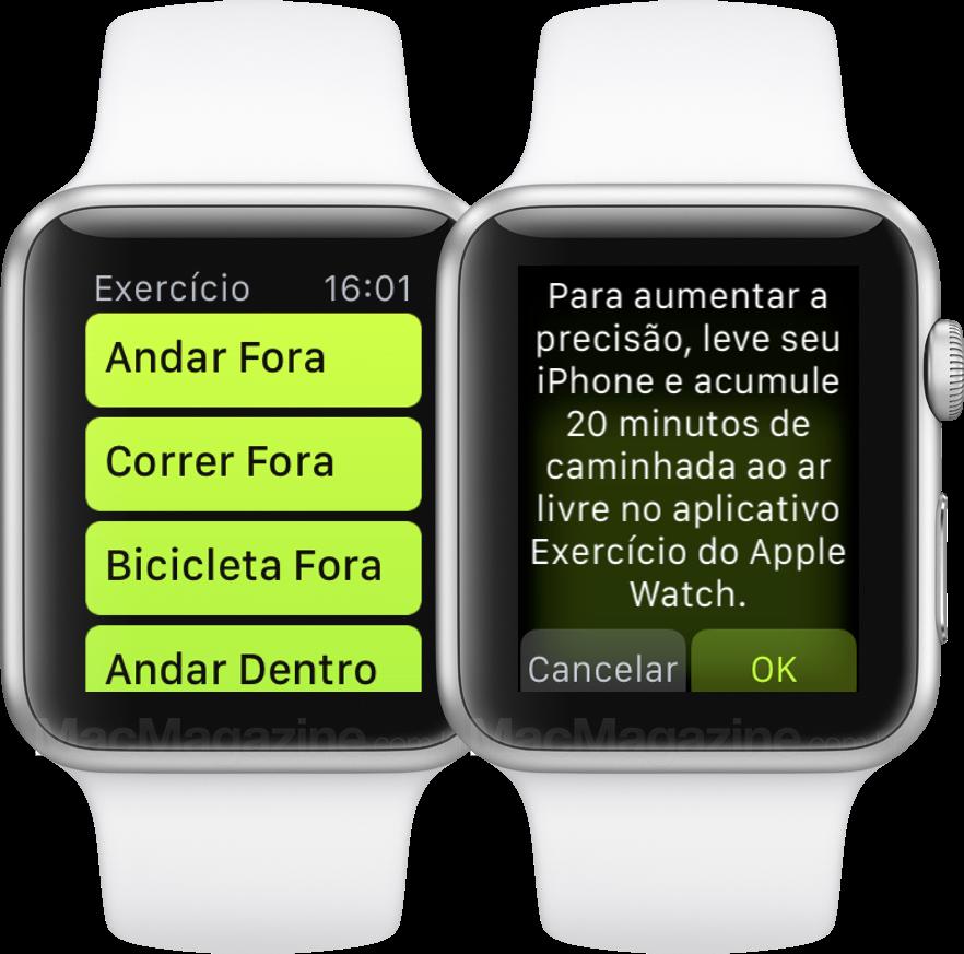 Calibrando o Apple Watch