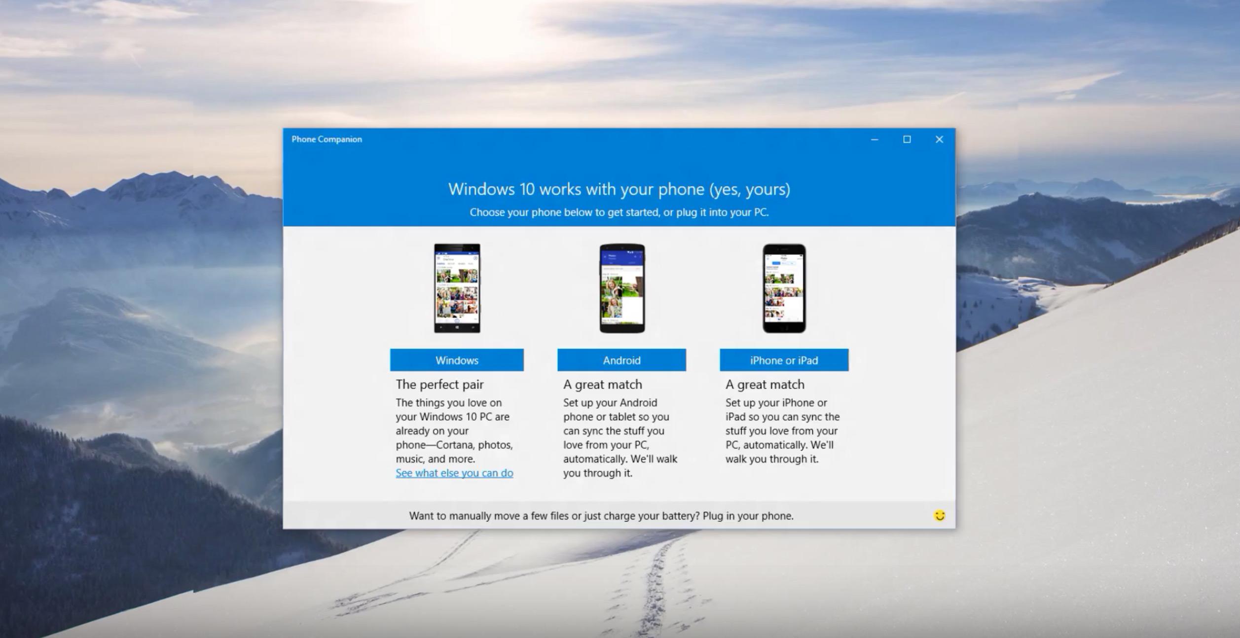 Phone Companion para Windows 10