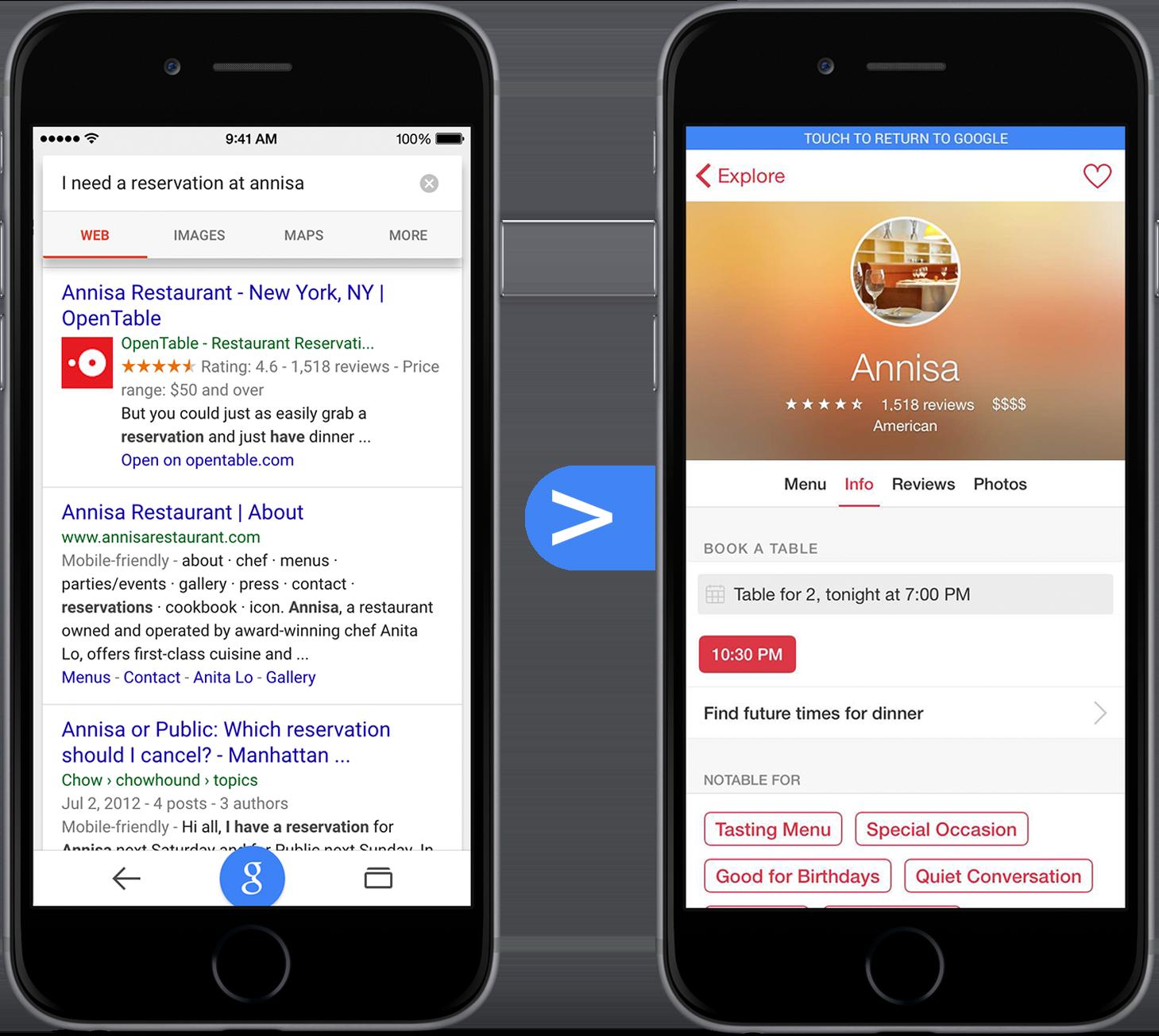 Indexação de apps para iOS nas buscas do Google