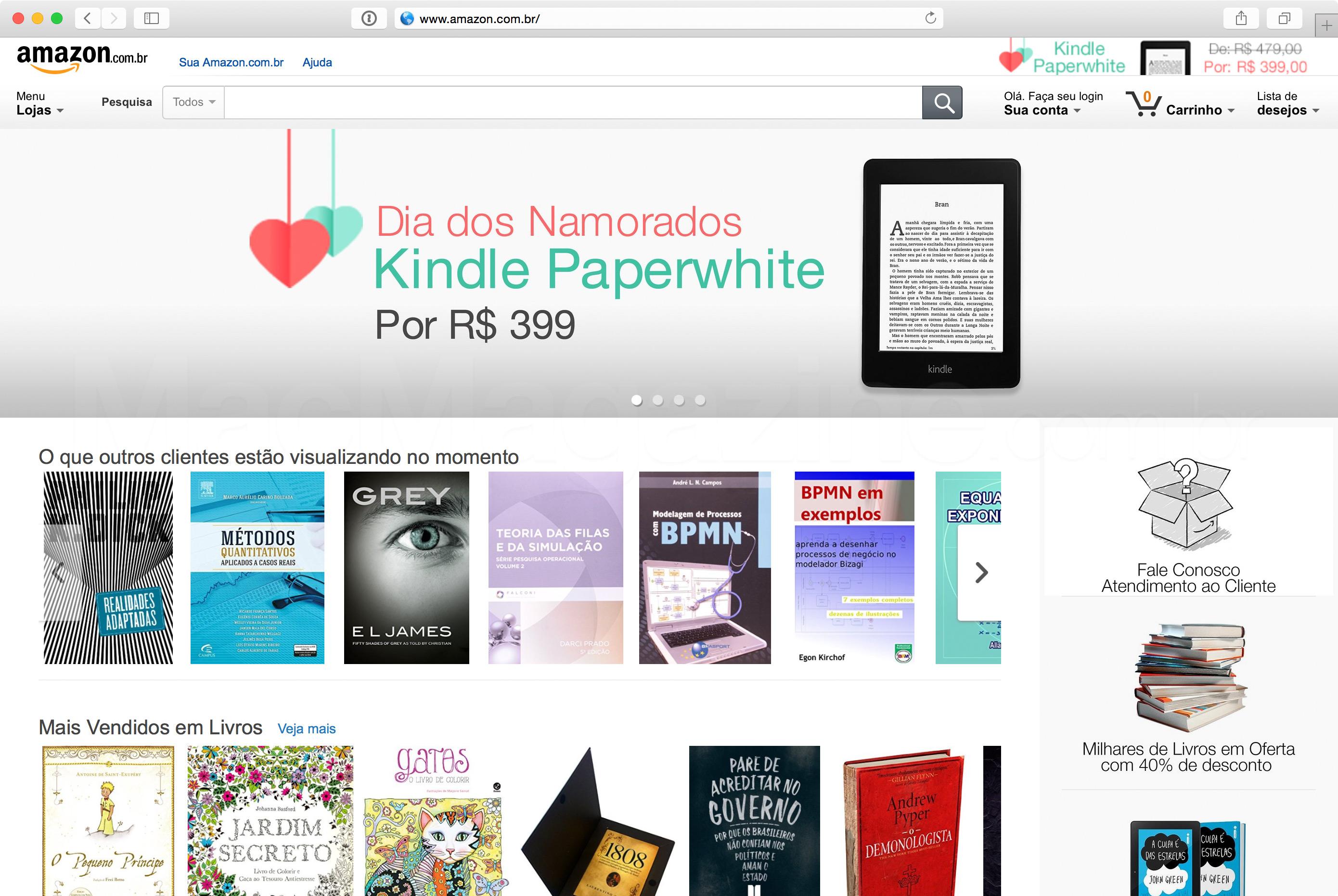 Loja online da Amazon no Brasil