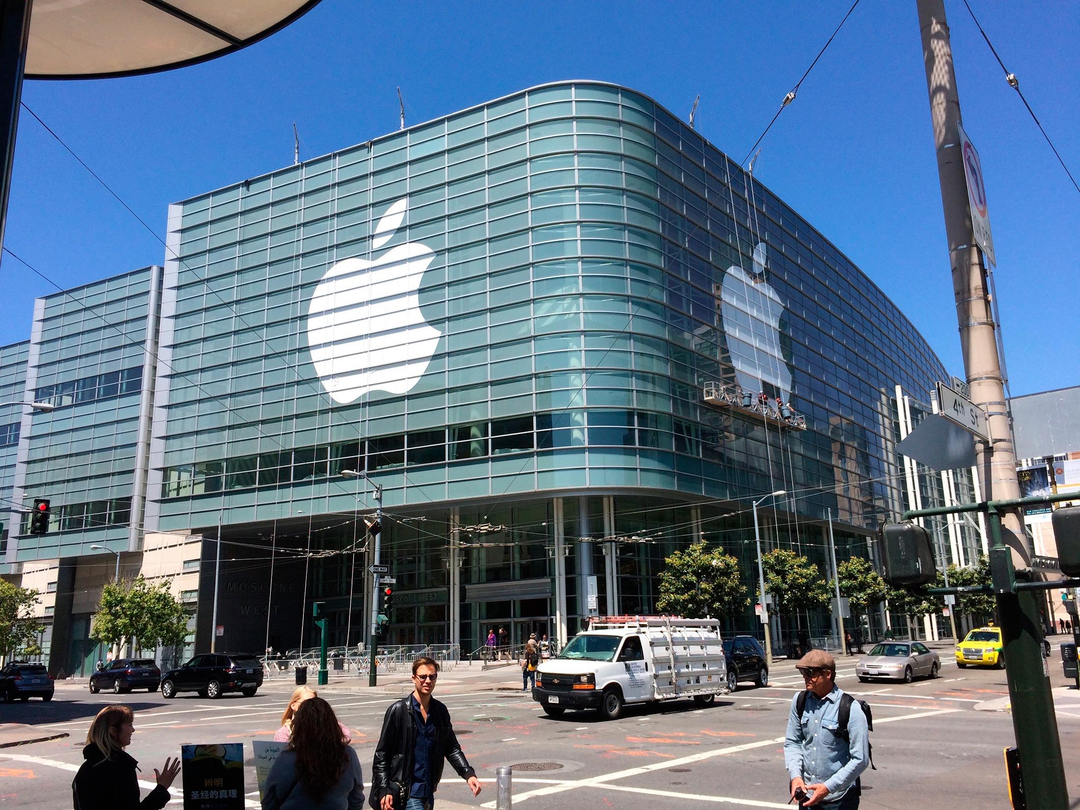 Logo da Apple pronto no Moscone