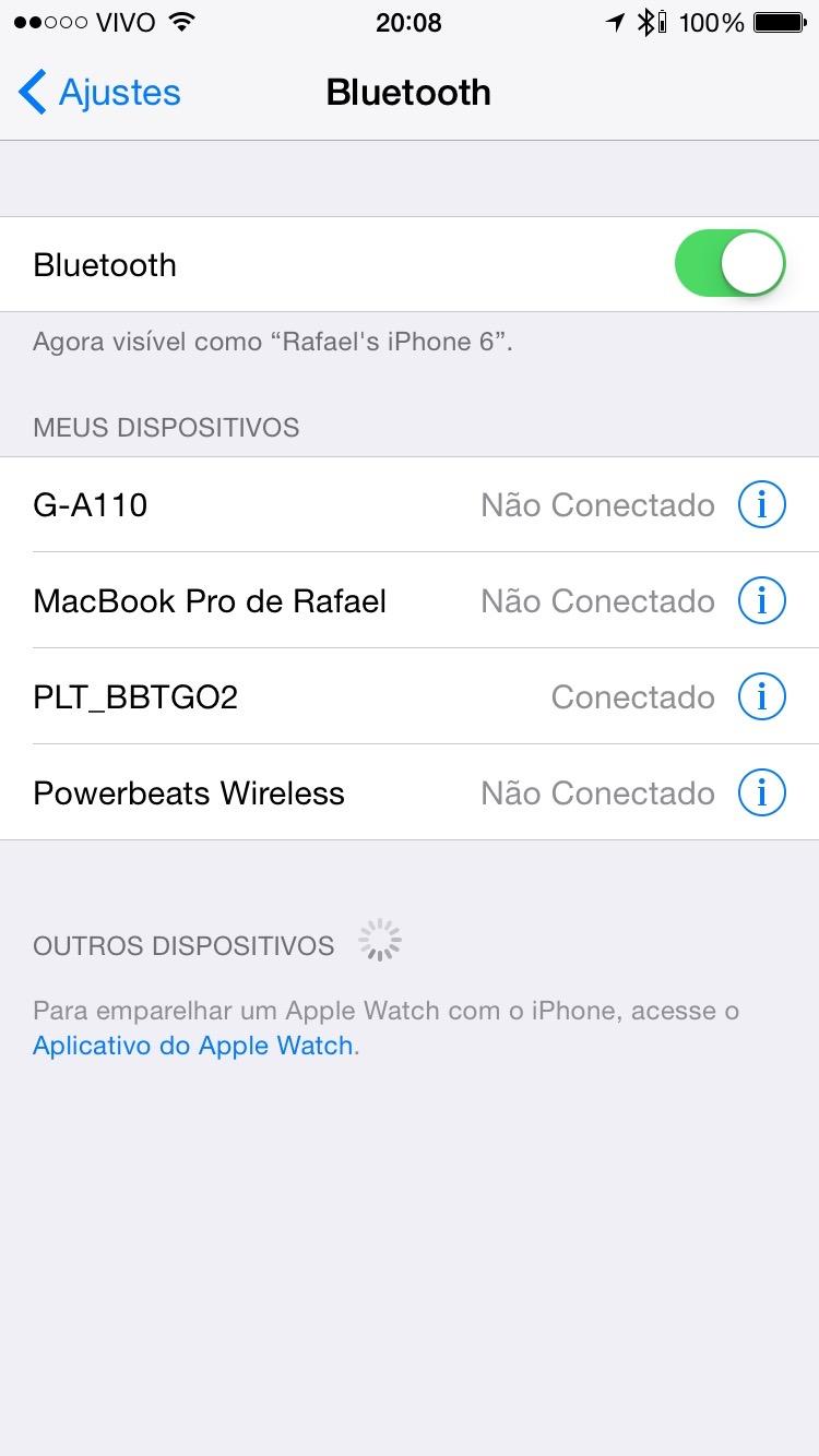 Ajustes de fone Bluetooth no iPhone