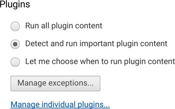 Plugins no Chrome