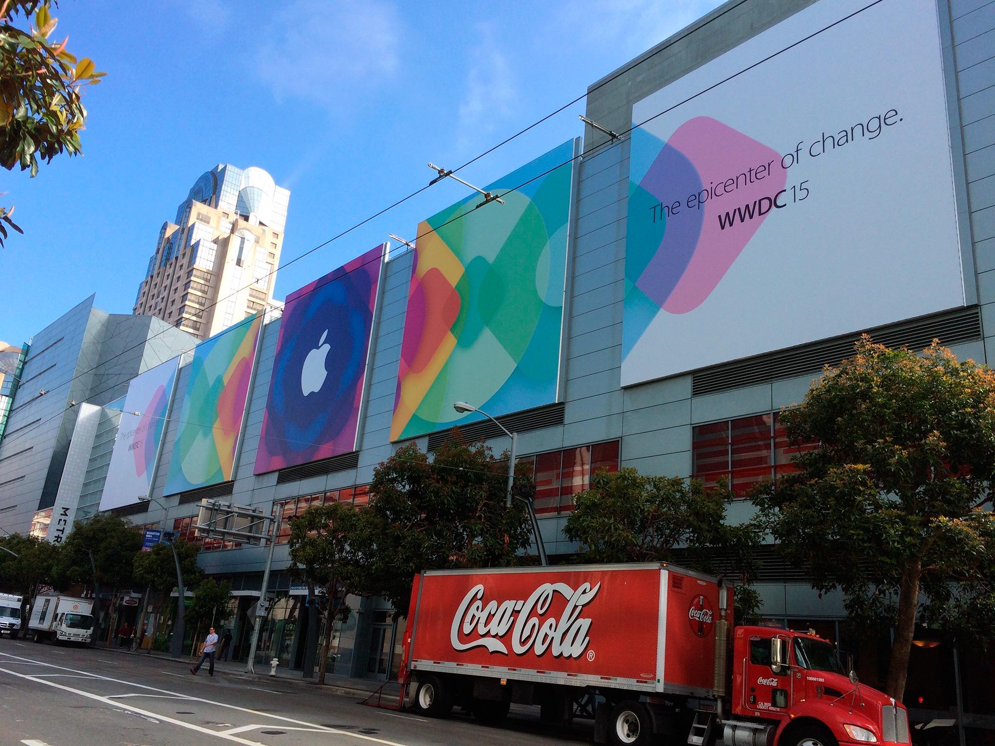 Banner da WWDC 2015 no Metreon