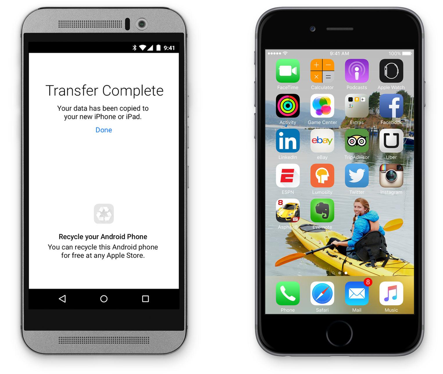 Android para iOS