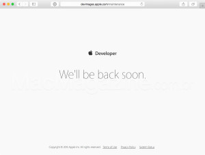 Apple Dev Center fora do ar