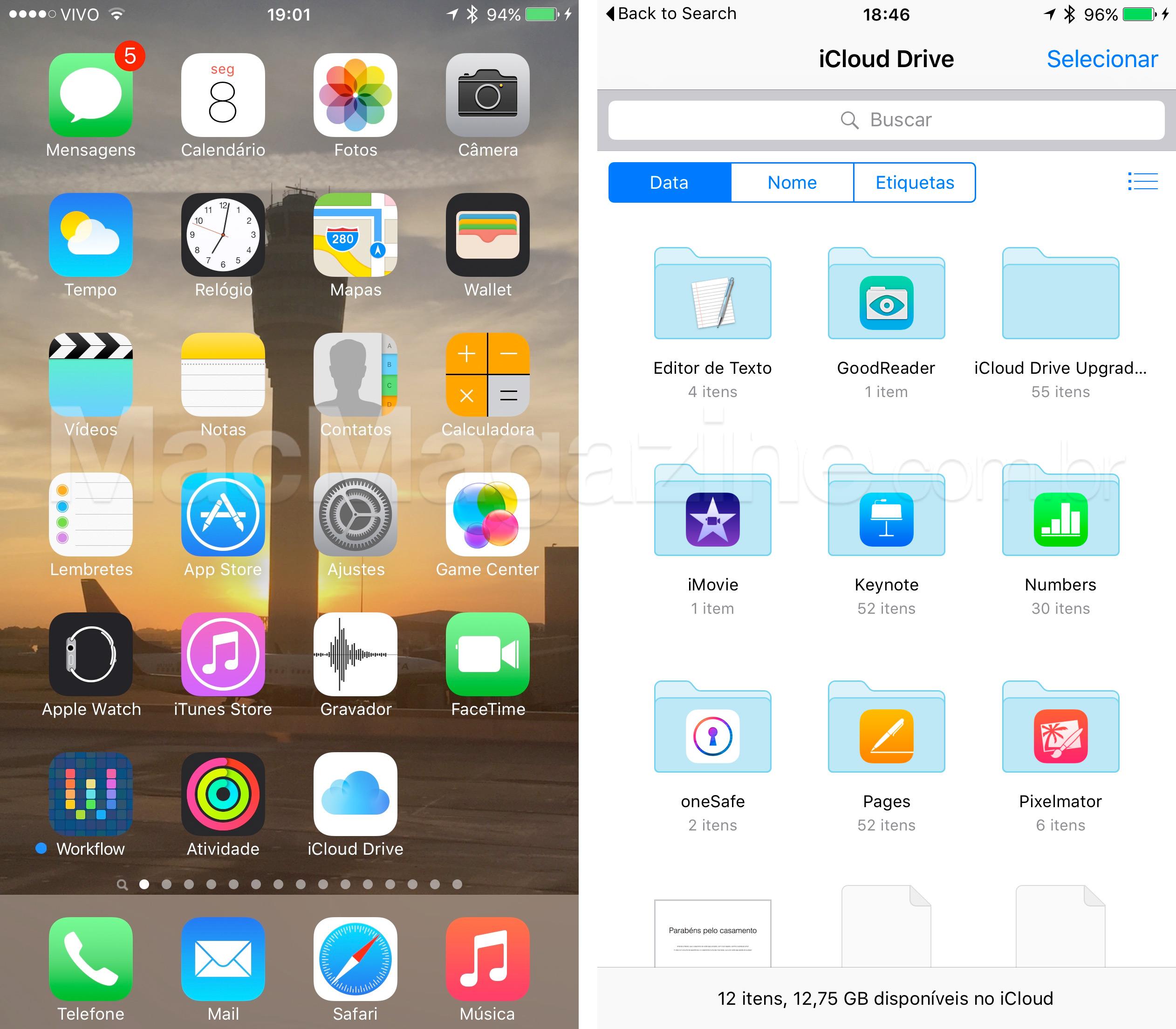 iCloud Drive no iOS 9