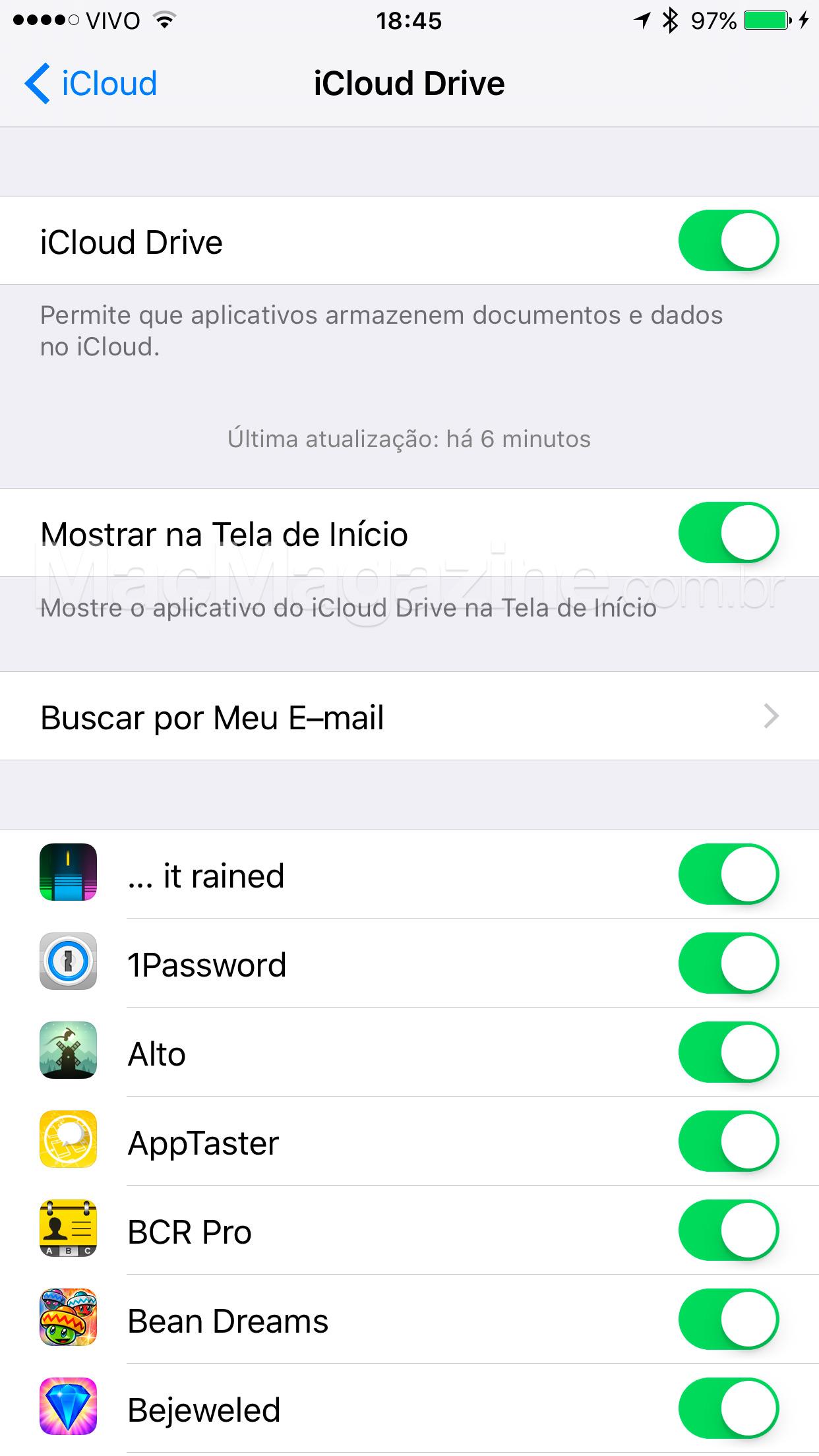 Escondendo o iCloud Drive no iOS 9