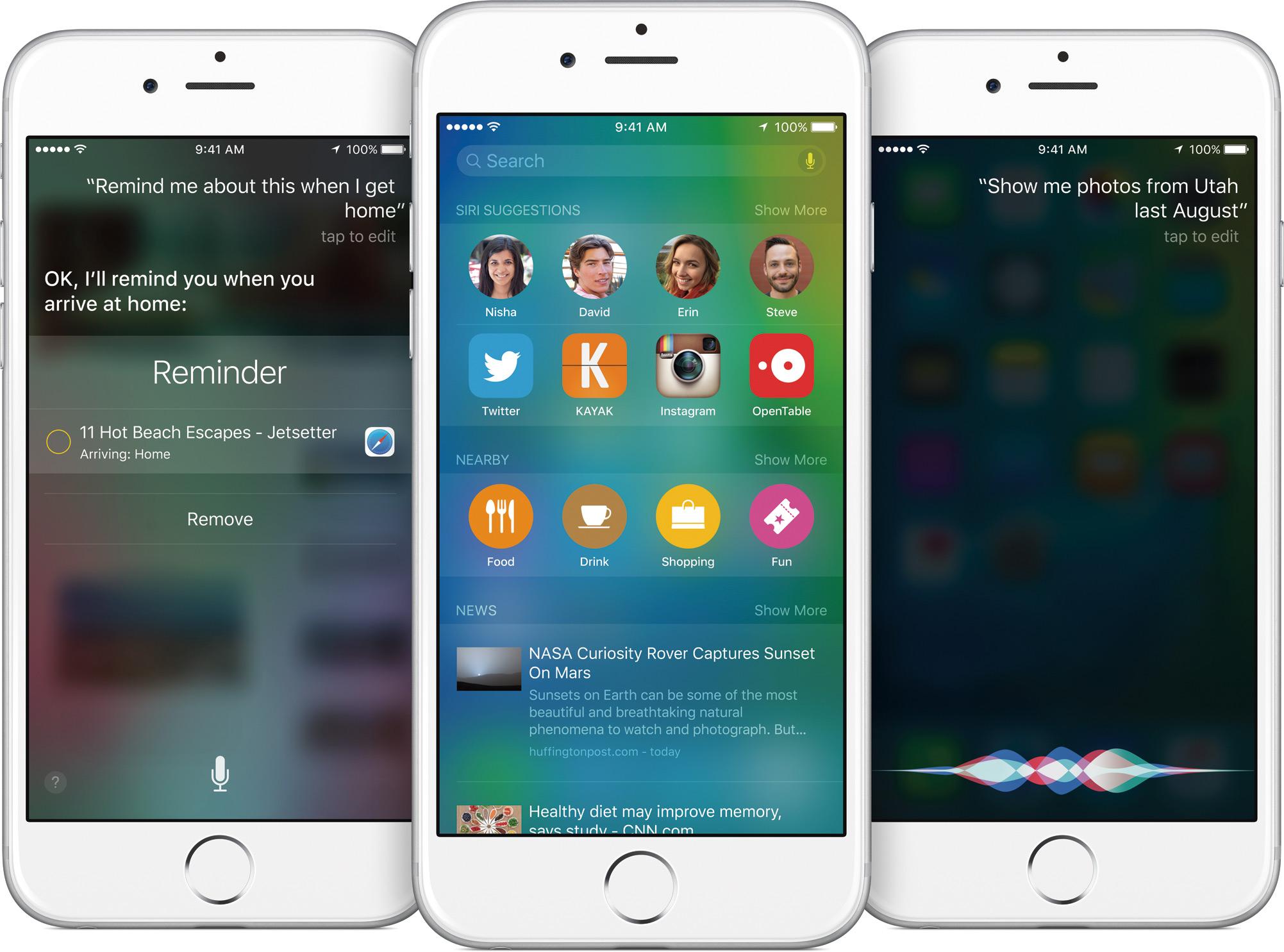 Siri/Spotlight no iOS 9