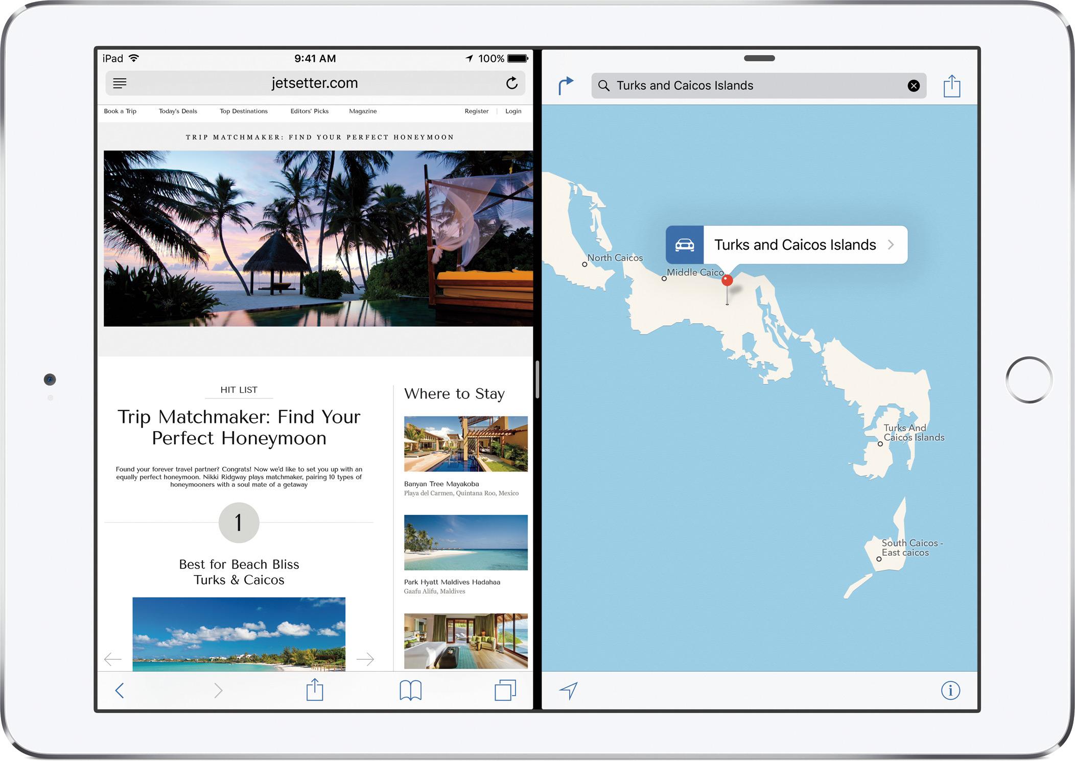 Divisão de apps no iPad Air 2 com iOS 9