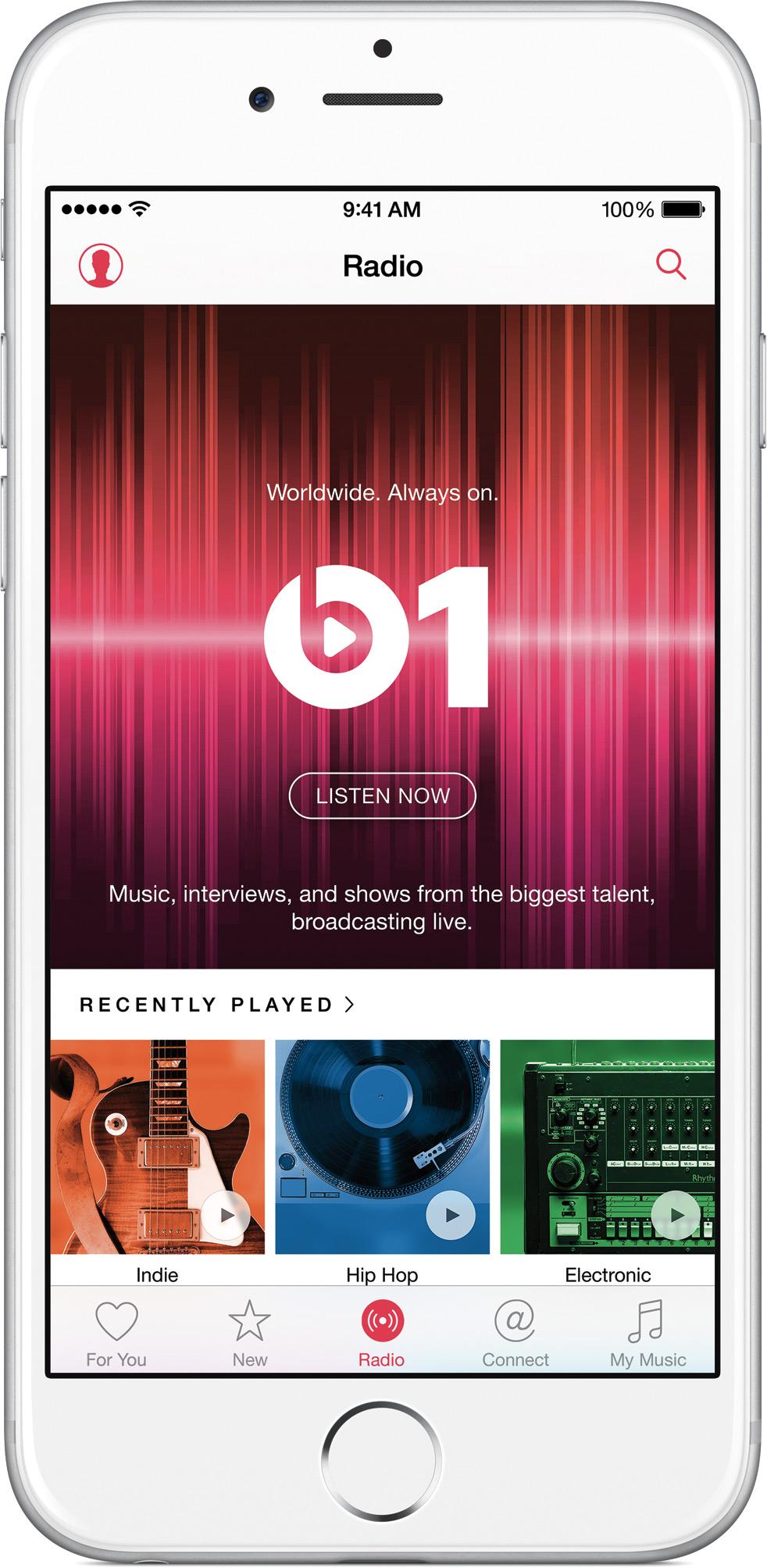 Beats1 do Apple Music no iPhone