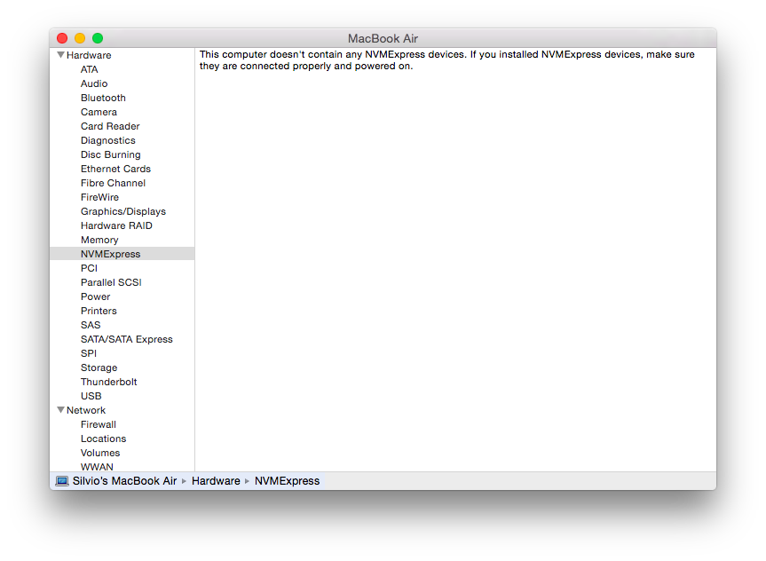 NVMExpress no OS X Yosemite