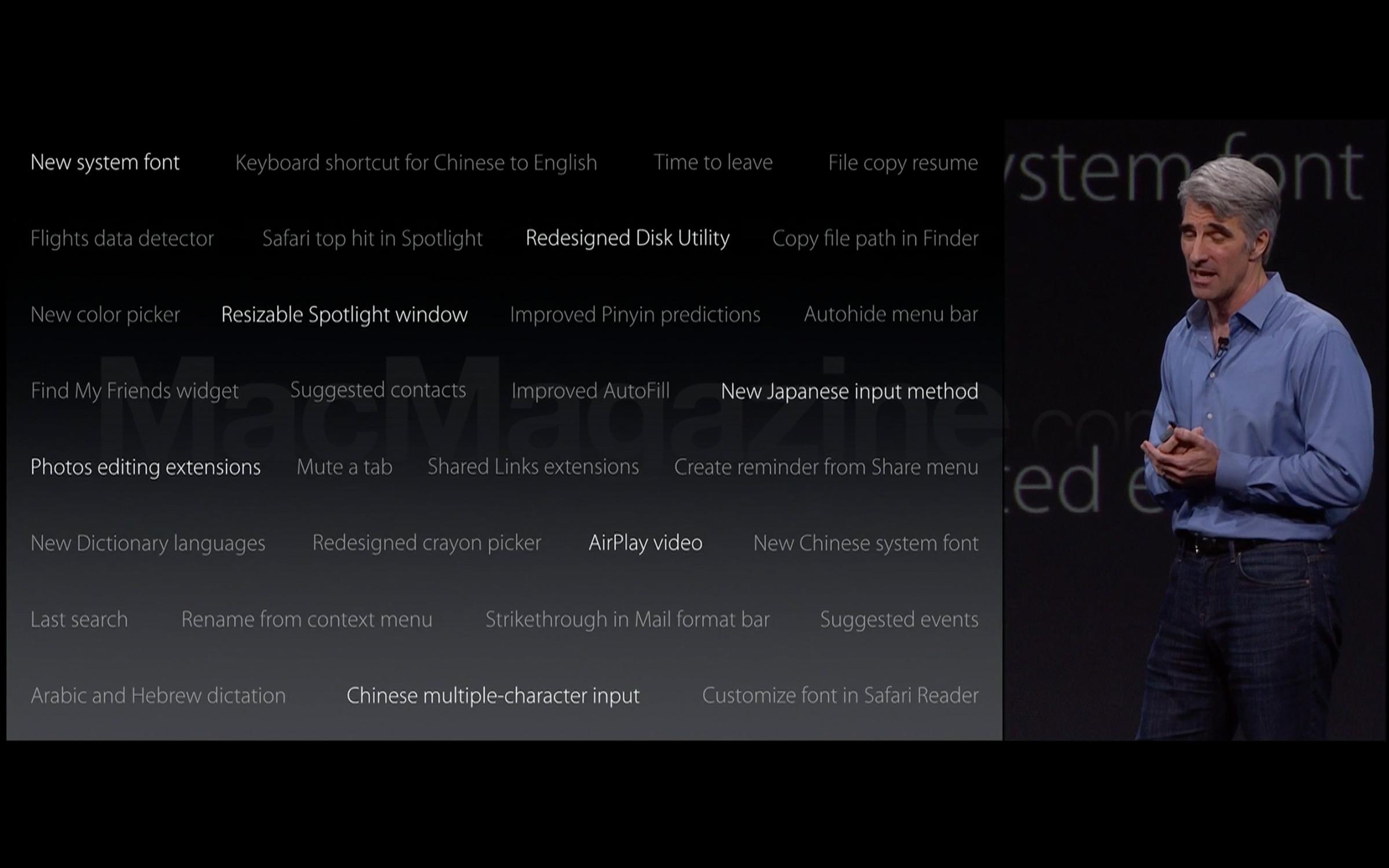 Novidades extras do OS X El Capitan 10.11