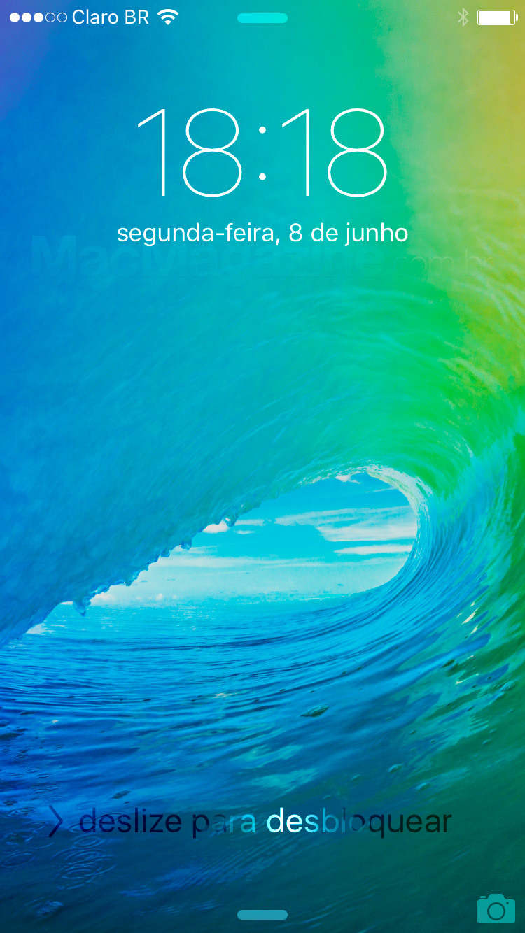 Screenshot do iOS 9