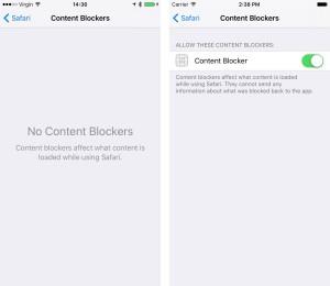 Content Blocking Safari Extensions