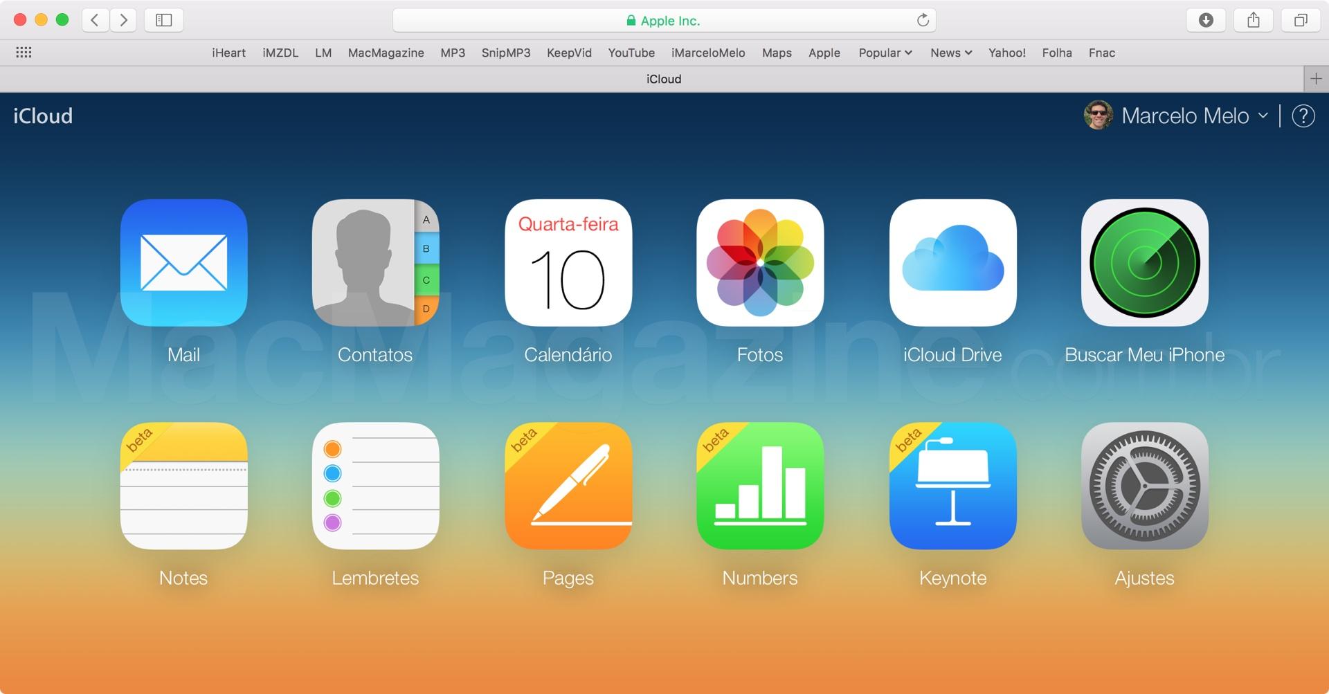 Notas (beta) no iCloud.com
