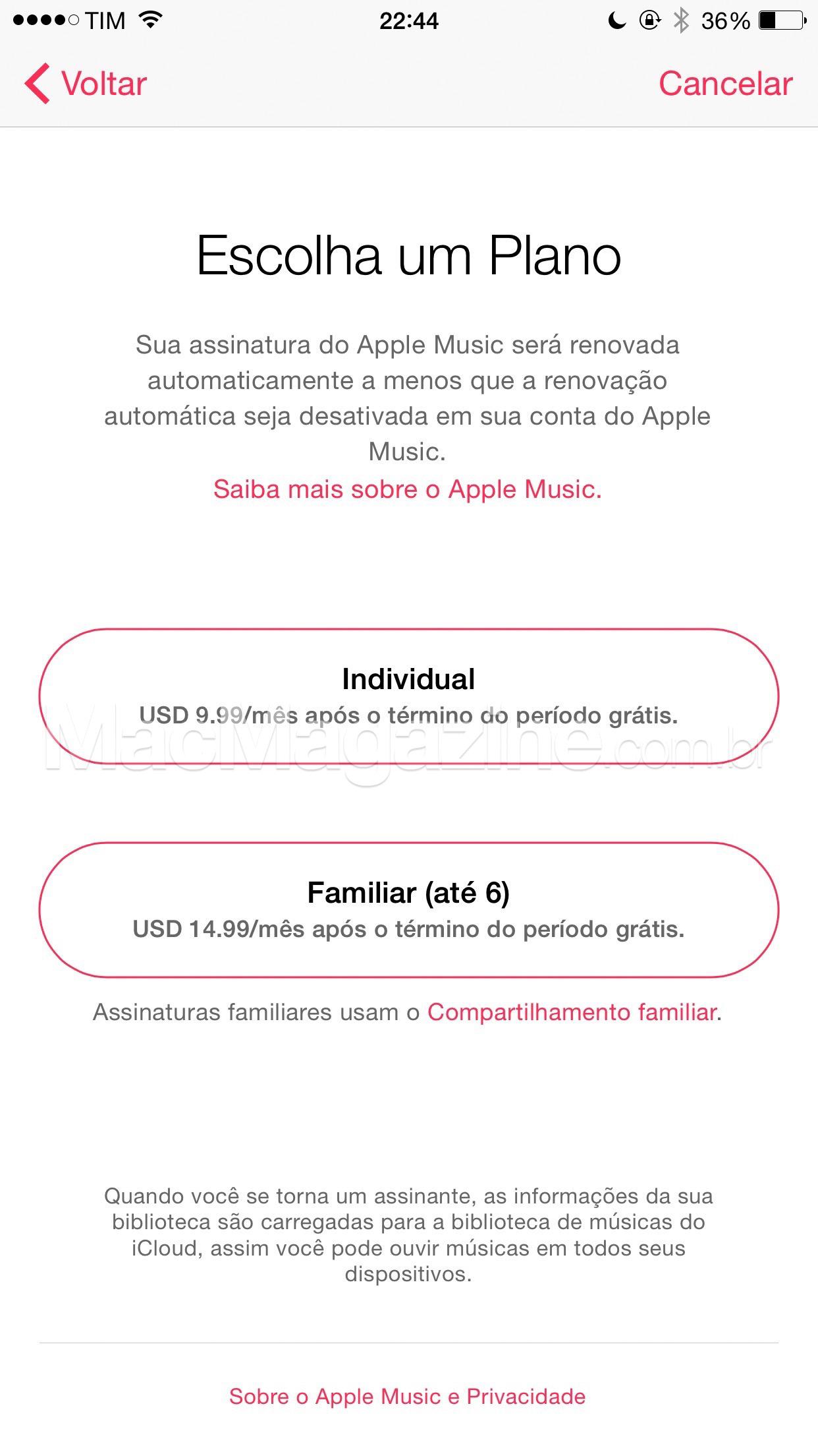 Apple Music em português no iOS 8.4 beta