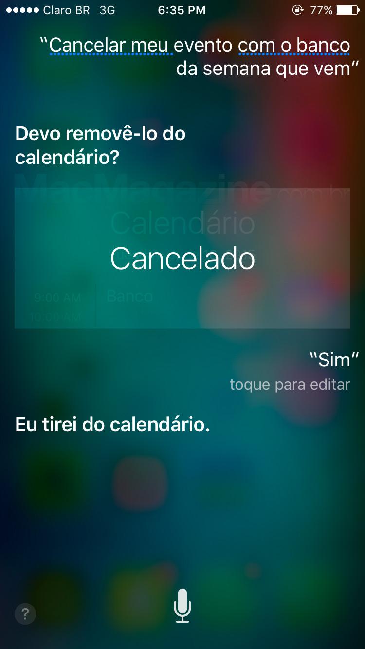 Screenshot do iOS 9