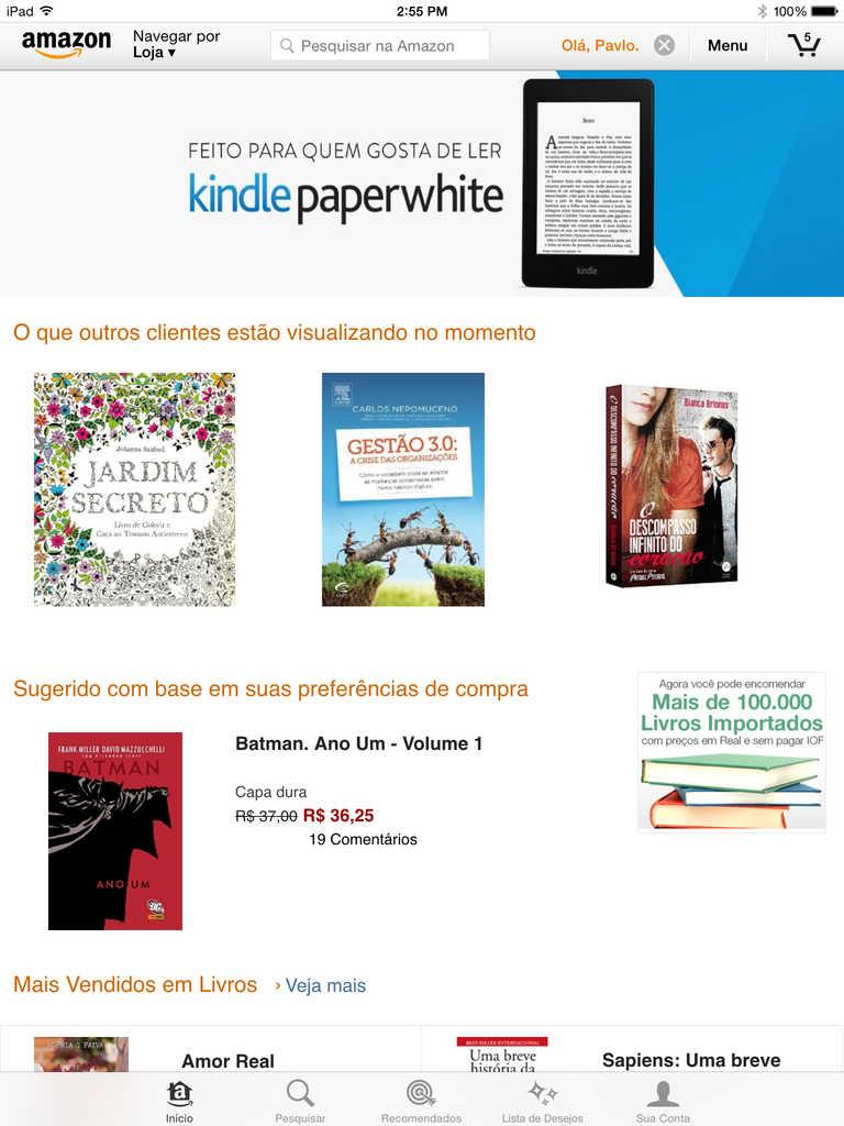 Amazon para iPad