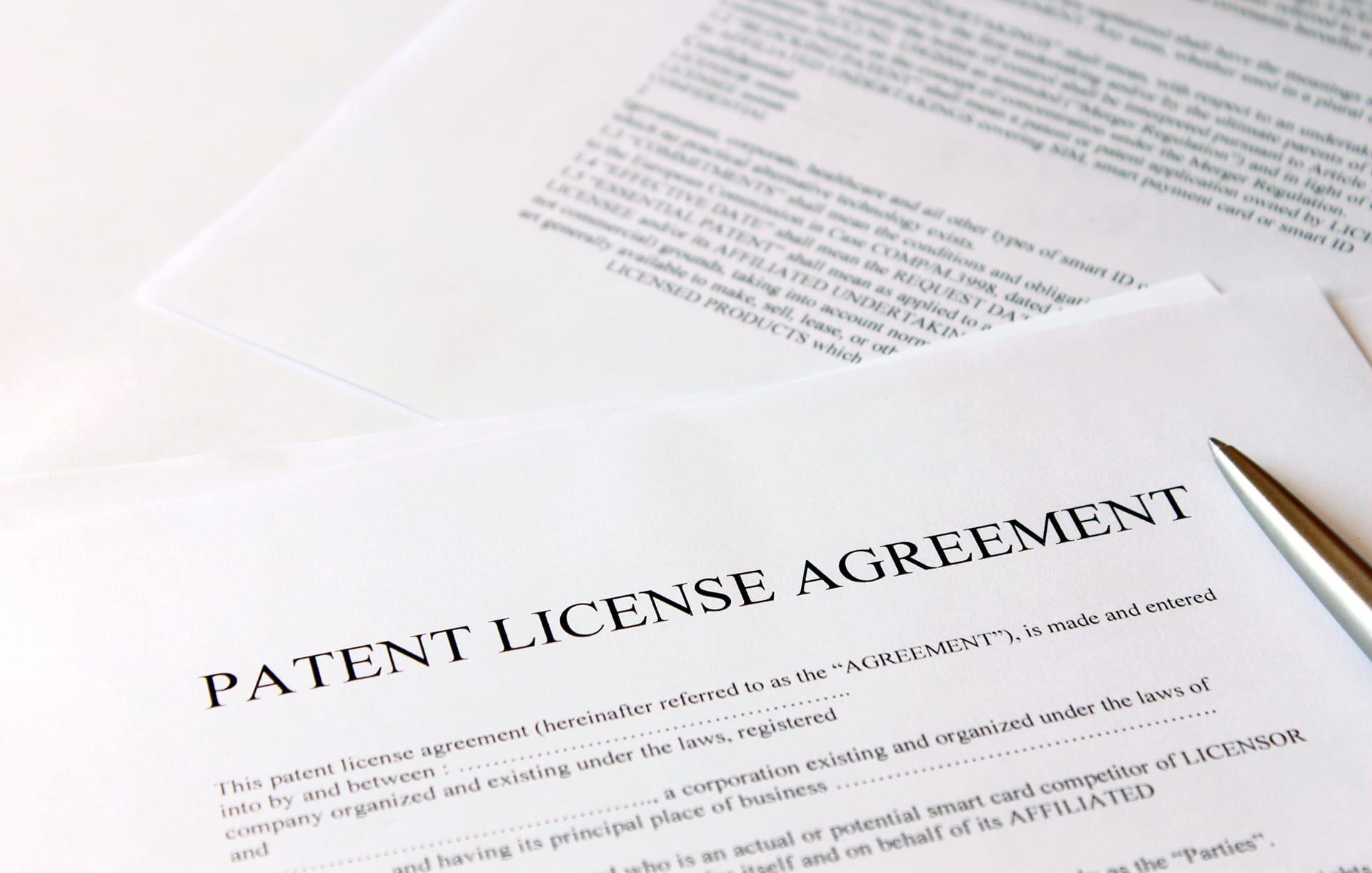 Acordo de licença de patente