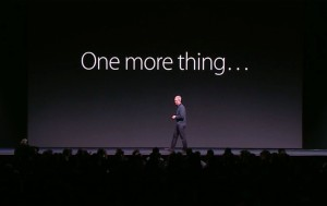 "Tim Cook com ""One more thing…"""