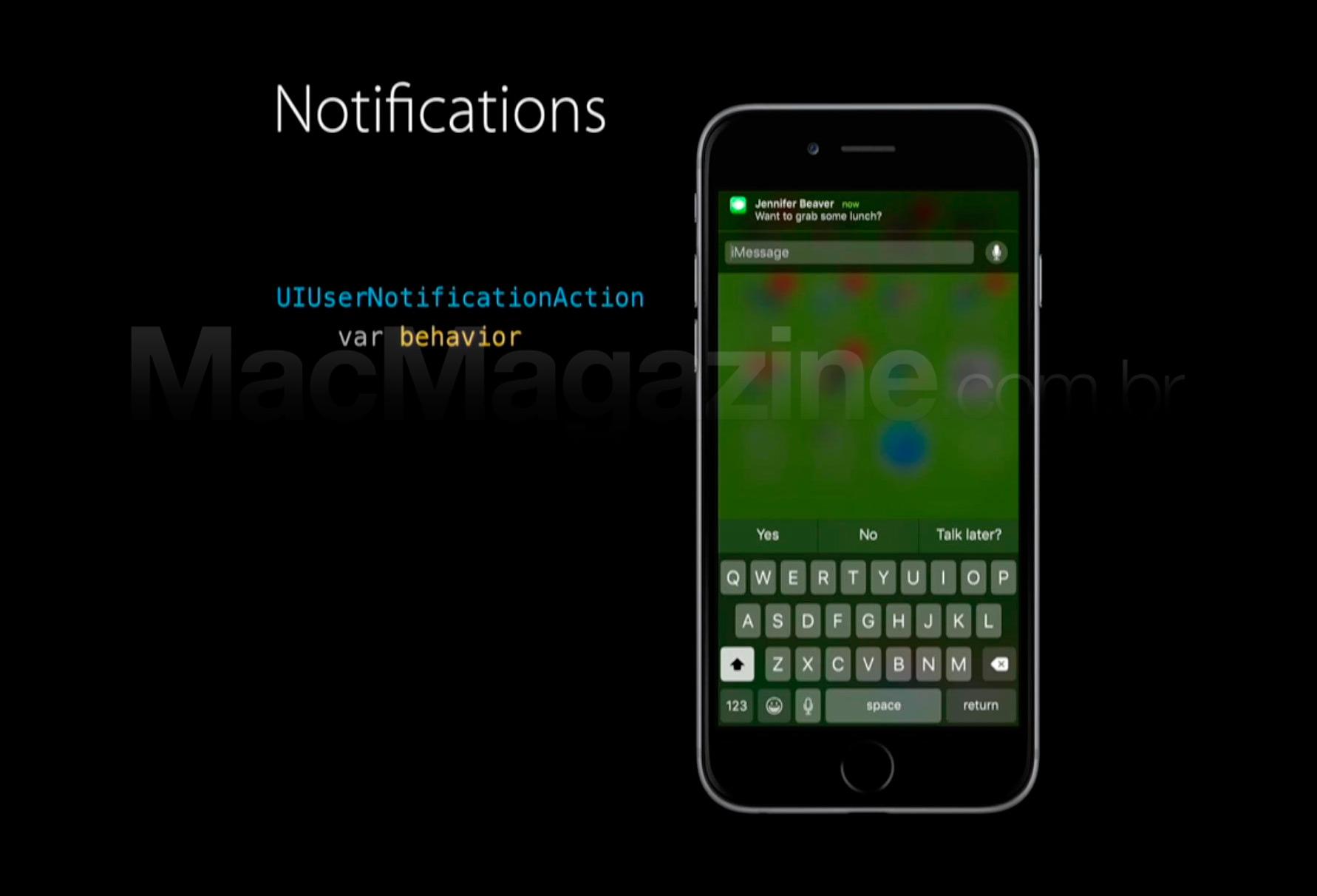 Notificações no iOS 9