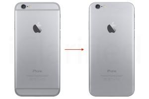 Mockup de iPhone sem as listras das antenas