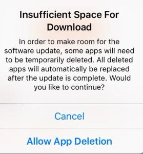 Liberando espaço no iOS 9