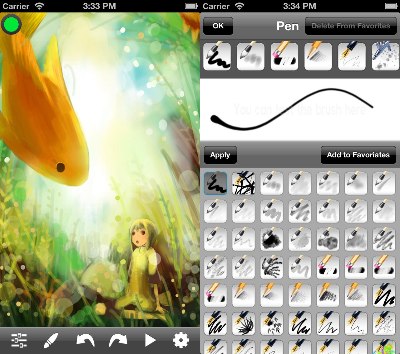 App MyBrushes Pro para iPhones/iPods touch