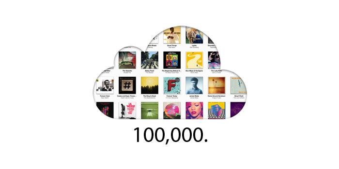 100.000 músicas no iTunes Match