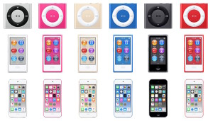 iPods coloridos
