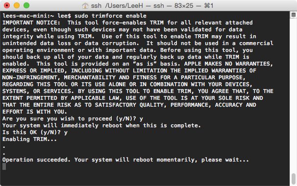 TRIM no OS X 10.10.4