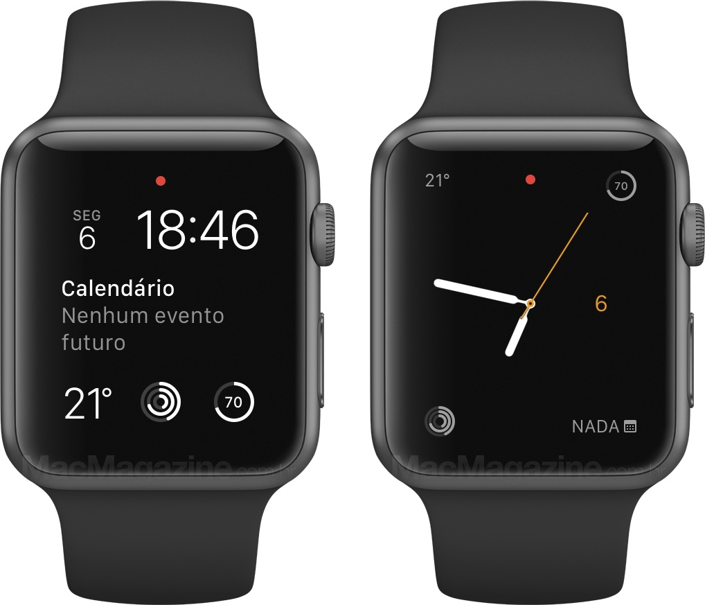 Review do Apple Watch - Mostradores